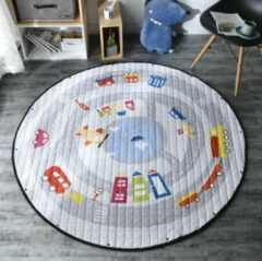 AYME Zacht Speelkleed Baby | Speelkleed Kinderen | Diameter 150cm | AutoKleed | 100% Katoen | Baby- of Kinderkamer | Auto's