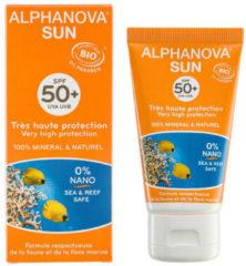 Alphanova SUN BIO zonnebrand SPF 50+ Face Cream Tube 50 - g