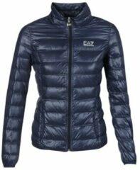 Donkerblauwe Emporio Armani Lichtgewicht gewatteerde jas met donsvulling