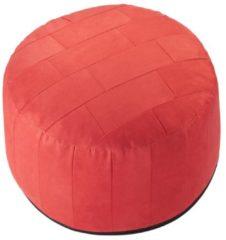 Sitzkissen Hocker Patchwork Ø 50/34 cm Linke Licardo rot