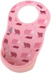 Bibetta- Neopreen - Slab - Licht Roze- Nijlpaard met print
