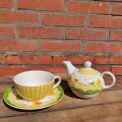 Rode Gilde handwerk Tea for One Thee Set Theepot van Gilde porselein