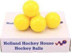 Merkloos / Sans marque Hockeyballen glad geel - no logo -12 stuks