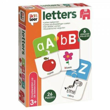 Afbeelding van Jumbo Ik Leer Letters 6 spelletjes, incl. puzzel vanaf 3 jaar