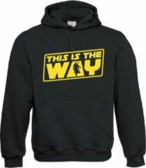 Zwarte Bc Star Wars - Chewbacca - Han Solo - The Mandalorian - The Sith - Darth Vader - Jedi - Chewy - Lightsaber - Stormtrooper - The Force - This is the way - Boba Fett Bc Unisex Hoodie Maat M