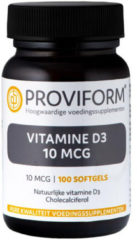 Proviform Vitamine D3 10µ - 100 Softgels - Vitaminen