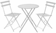 Blij-MakkertjeNL Bistro tafel set wit met kussens - tuintafel - tuinstoel - tuin - zomer - tuin meubelen - genieten - thuis