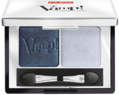 Blauwe Pupa milano PUPA Vamp! Compact Duo Oogschaduw-012 Magnetic Blue #505b6d #b6bcca