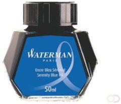 Blauwe Waterman Vulpen inktpotje Florida Blauw 50ml
