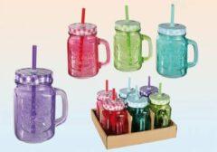 Paarse Kreative Glass Gekleurde Vintage Pot Set van 6