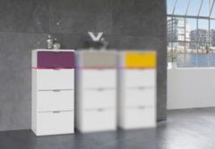 Kommode/ Schubkastenkommode weiss/ Flieder Express Möbel Colour Sleep