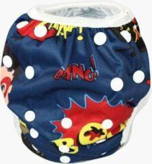 Rode Blije Billetjes NIEUW! Wasbare Zwemluier Klein Bang Boom Pow!