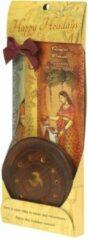 Bruine Prabhuji's Gifts Wierook geschenkpakket 'Ontspanning' (3 pakjes), inclusief houder van rozenhout