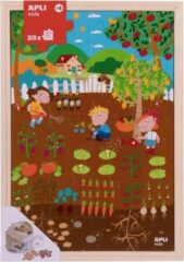 Apli Kids Houten puzzel Tuin