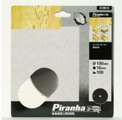 DeWALT BLACK+DECKER Piranha Sägeblatt für Kreissäge, Chrom-Vanadium, 150x16 mm K100 X10015-XJ