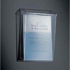Sigel LH325 Folderhouder Acrylglas helder DIN A4 staand Aantal vakken 1 1 stuk(s) (b x h x d) 247 x 339 x 88 mm