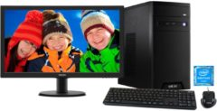 Hyrican PC Intel Pentium® G4560, 8GB, 1TB, Intel HD + Monitor »Multimedia black SET1203«