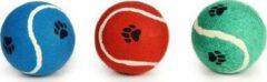 Paarse Beeztees Tennisbal - Hondenspeelgoed - Assorti - 12 cm