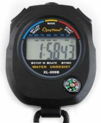 Zwarte Merkloos / Sans marque Digitale Stopwatch Timer -Interval Fitness Chronometer Klassiek - Met Alarm Functie & Ingebouwd Kompas