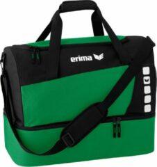 Erima Club 5 Line Sporttas met Bodemvak Small - Smaragd/Zwart