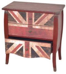 Kommode 'Union Jack' Möbel-Direkt-Online rot