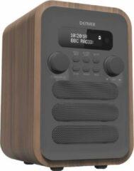 Denver DAB-48GREY radio Persoonlijk Digitaal Grijs, Hout