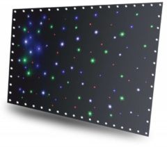 Beamz SparkleWall LED96 sterrendoek 3x 2m met gekleurde LEDs