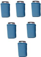 Koozie.eu 6 st. bier - frisdrank blik koelhoud hoesjes |bierblik hoesjes | Festival | Vakantie | Strand | Carnaval - Exclusief Blauw