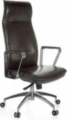 Bruine Amstyle Lederen Bureaustoel - Directiestoel - Ergonomische Draaistoel - Bureaustoelen