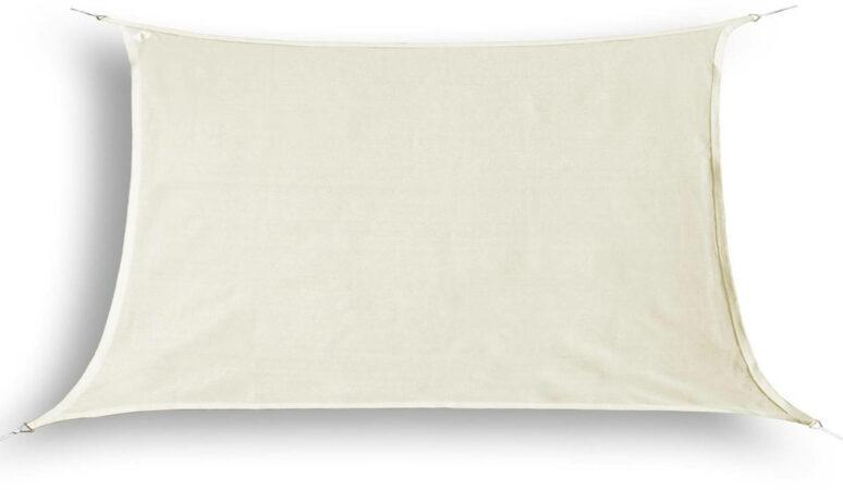 Afbeelding van Creme witte HanSe® Schaduwdoek Rechthoek Waterdicht 3x4 m - zonnedoek - Creme