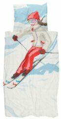 Witte Snurk Ski Girl biologisch katoenen dekbedovertrekset 160TC - inclusief kussenslopen