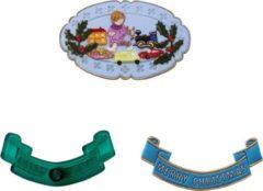 Groene JEM Cutters JEM Christmas Optional Extras Set/4|Speelgoed, Cadeautjes, Kind en Banner Merry Christmas|Uitstekers voor taartdecoratie