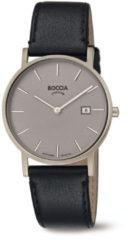 Boccia Titanium 3637.01 horloge Leer Zwa Heren
