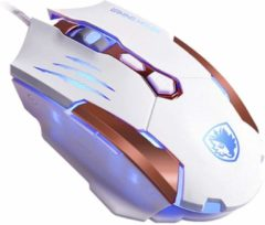 Witte Gaming mouse Sades