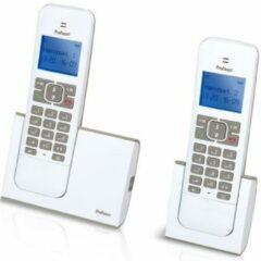 Grijze Profoon PDX-8420 WT/TE DECT Draadloze telefoons - 2 Handposten GAP compatible - Wit/Taupe