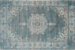 LIFA LIVING Vintage Vloerkleed, Grijs en Blauw Tapijt, Oosters Vloerkleed voor Woonkamer, Slaapkamer, 80 x 150 cm