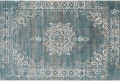 Blauwe Lifa-Living Vloerkledenwinkel Basic Cool Vintage Medaillon Grey Blue 80x150