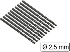 Benson metaalborenset HSS-R 10-delig 2.5 mm