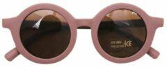 Kinder Zonnebril | Mat Oudroze | Vintage | UV400 | Fashion Favorite