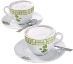 Cappuccino-Set 4tlg. weiß
