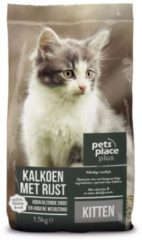 Pets Place Plus Kitten - Kattenvoer - - Kattenvoer - Kalkoen Rijst 1.5 kg - Kattenvoer