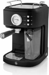 Swan One-Touch Retro Espressomachine - Zwart - 1100 Watt