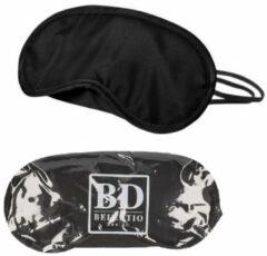 Bellatio Design Slaapmasker zwart 4 stuks