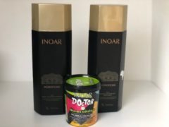 INOAR Moroccan Keratin Treatment Behandeling 2x1000ml KIT &GRATIS INOAR Doctor 450Gram