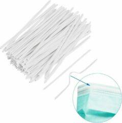 Witte Merkloos / Sans marque Neusbeugel - neusbrug - 100 stuks - voor het maken van maskers - mondmaskers - PE - metaal - DIY
