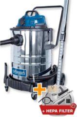 Scheppach ASP50ES Nat- en Droogstofzuiger - Met Blaasfunctie & HEPA-filter - RVS reservoir 50 liter - 1400W