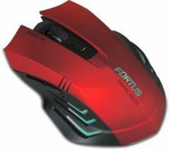 SPEEDLINK Fortus RF Draadloos Optisch 2400DPI Zwart, Rood Rechtshandig