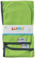 Groene LUMA Babycare LUMA Commodedoek en washand - Lime Green