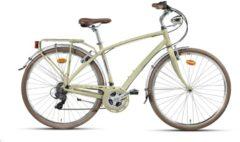 Montana Bike 28 ZOLL MONTANA LUNAPIENA RAD CITYRAD FAHRRAD ALUMINIUM 21 GANG SHIMANO Citybike Herren sand