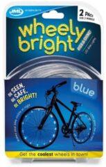 Fun Masters Wheely Bright Blauw - 2 stuks - Fietswielverlichting